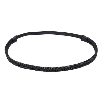 Haarband Glitter Gevlochten Zwart