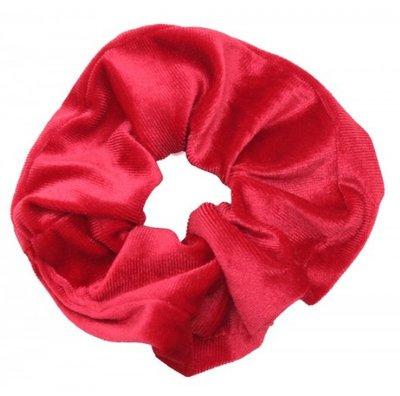 Scrunchie haarelastiek velvet rood