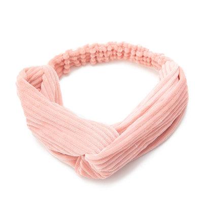 Haarband Twist Velvet Rib Roze