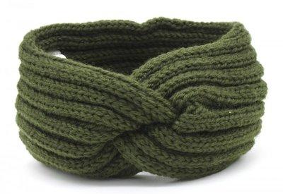 Haarband Twist Knitted Groen