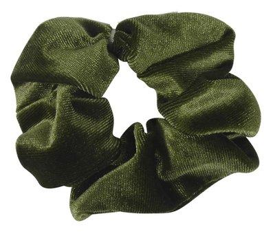 Scrunchie haarelastiek velvet groen