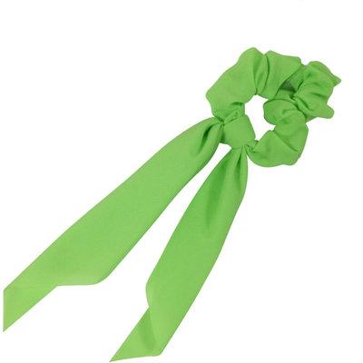Scrunchie Haarelastiek Linten Medium Neon Groen.
