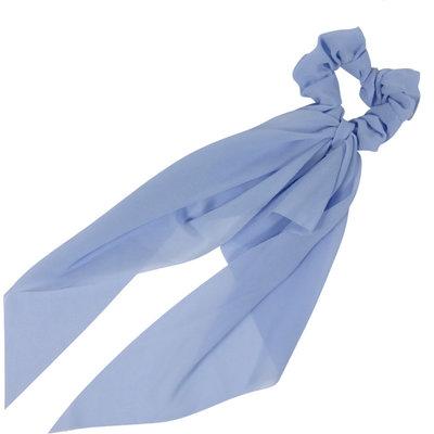Scrunchie Haarelastiek Linten Lang Blauw