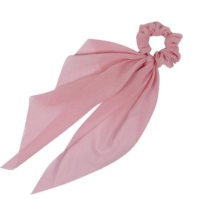 Scrunchie Haarelastiek Linten Lang Roze