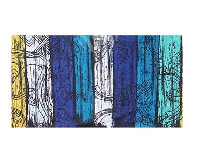 Haarband Multifunctioneel Streep Print Blauw Geel Wit