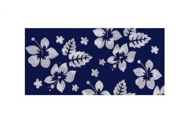Haarband Multifunctioneel Bloemen Print Blauw Wit