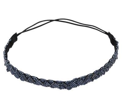 Haarband Kraaltjes Metallic Blauw
