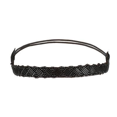 Haarband Kraaltjes Metallic Zwart