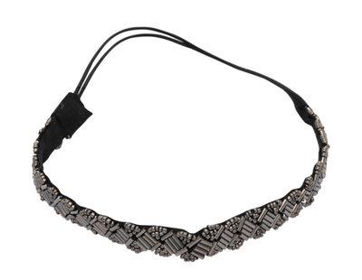 Haarband Kraaltjes Metallic Grijs