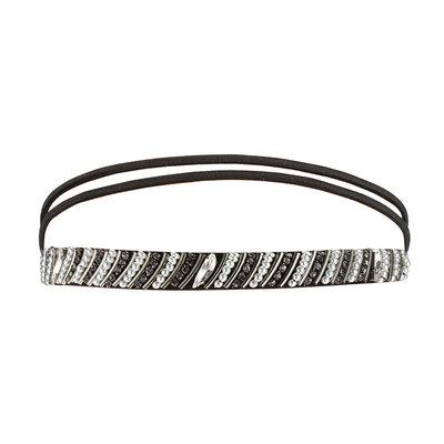 Haarband Kraaltjes Strass Parel Zilver