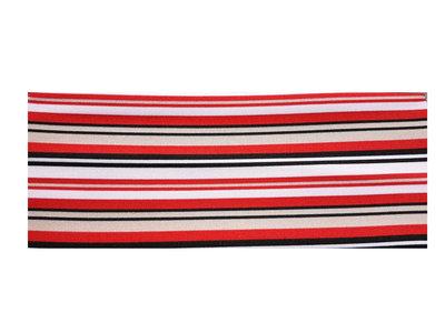 Haarband Streep Print Multi Rood