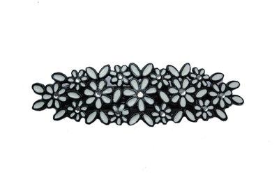 Haarspeld bloemetjes zwart