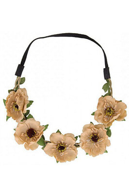 Haarband Ibiza flower bruin