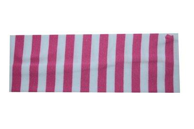 Haarband Streep Wit Roze