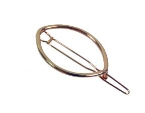 Haarclip ovaal koper