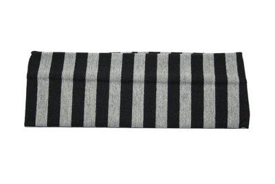 Haarband Streep Zwart Grijs