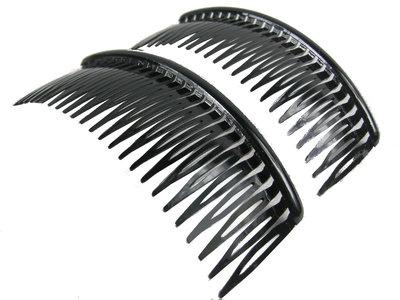 Haarkammen groot zwart