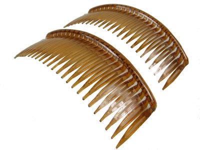 Haarkammen groot bruin