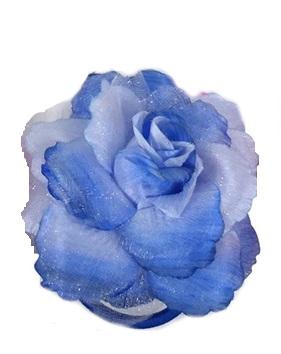 Haarbloem roos blauw