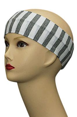 Haarband streep wit grijs