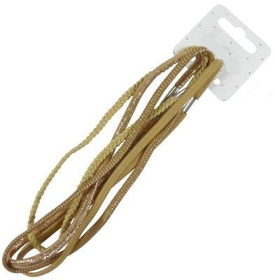 Haarband elastiek assorti lichtbruin