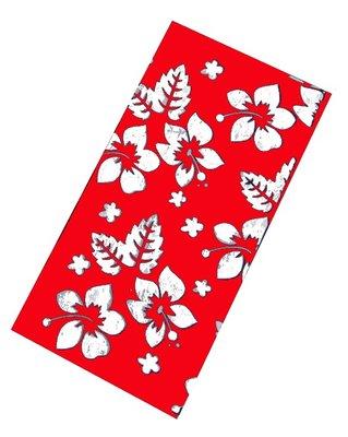 Haarband multifunctie bloem rood