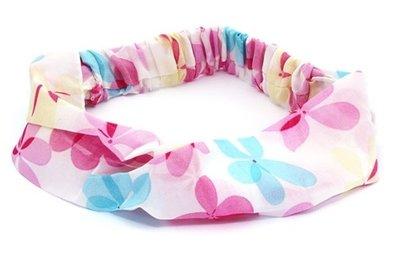 Bandana haarband bloem roze