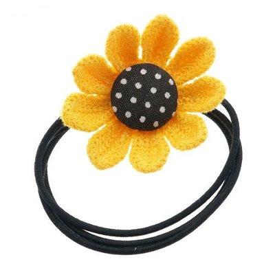 Elastiek bloem geel
