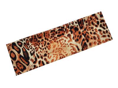 Haarband panterprint bruin