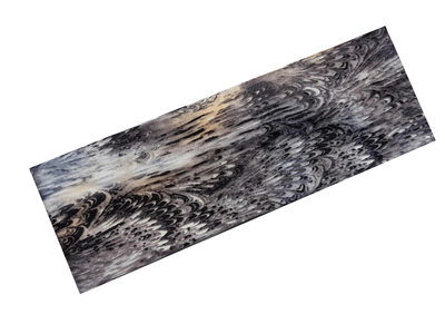 Haarband print grijs