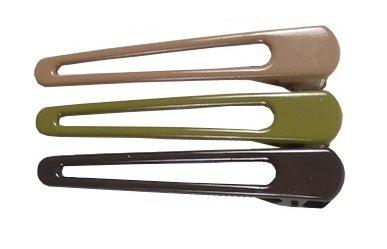 Duckklemmen open groen taupe bruin