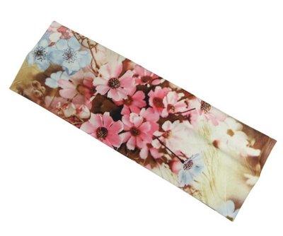 Haarband basic bloem roze