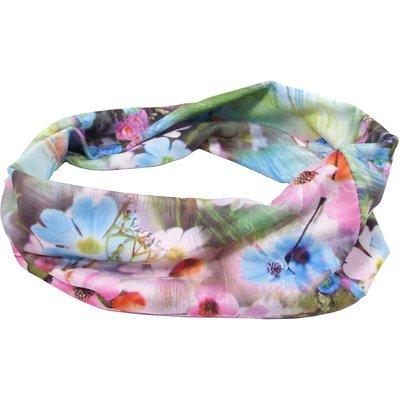 Haarband basic bloem groen blauw roze