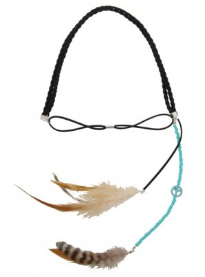 Haarband Ibiza feather zwart