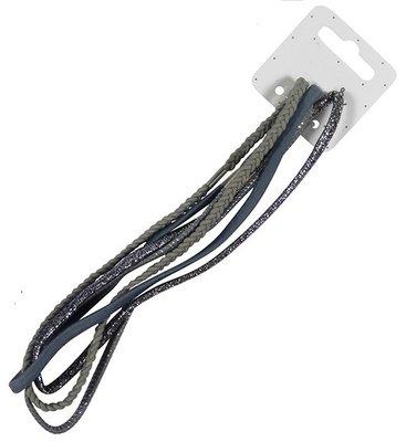 Haarband elastiek assorti grijs