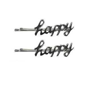 Schuifspeldjes happy zilver
