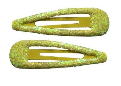 Klikklak glitter geel 7cm