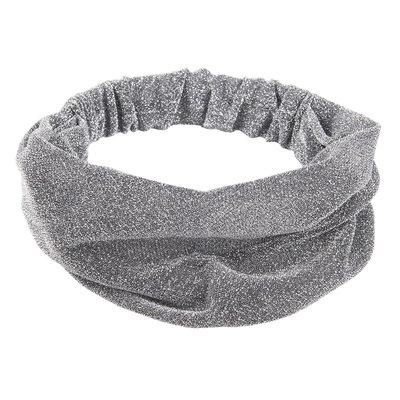 Haarband 3-in-1 glitter zilver