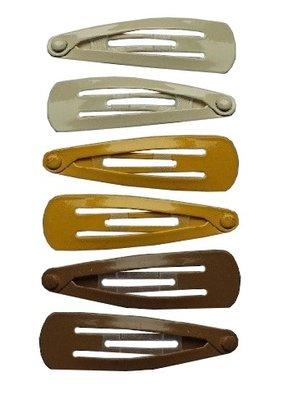 Klikklak mini geel creme bruin