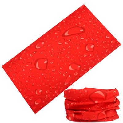 Haarband multifunctioneel druppel rood