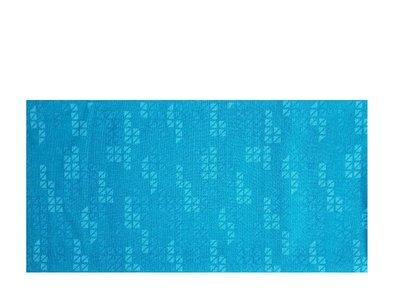 Haarband multifunctioneel blok print blauw groen