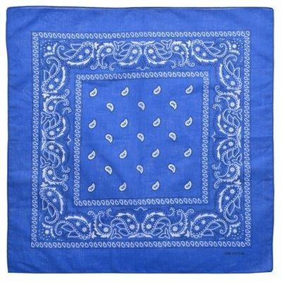 Bandana zakdoek paisley blauw