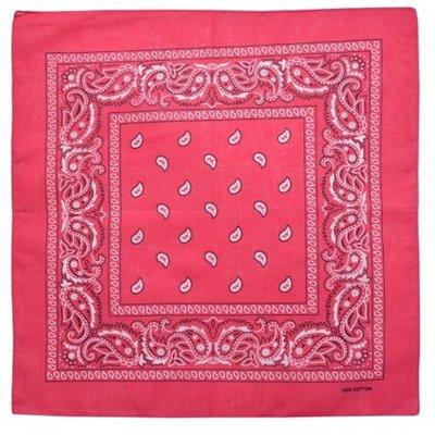 Bandana zakdoek paisley fuchsia roze