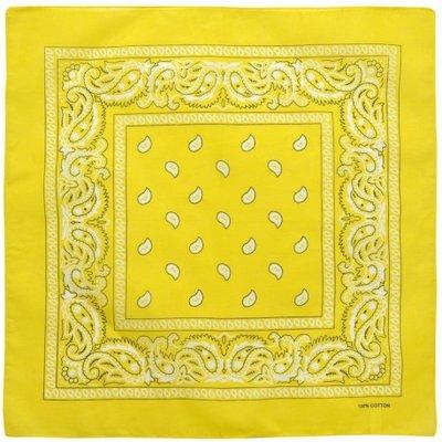 Bandana zakdoek paisley geel