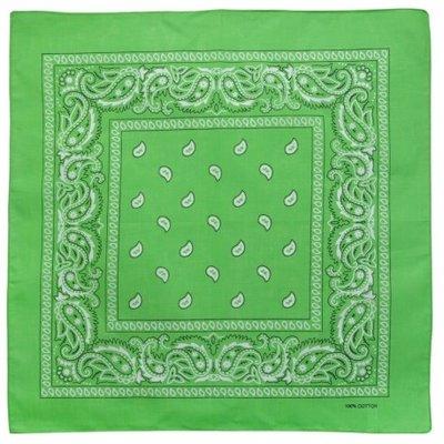 Bandana zakdoek paisley groen