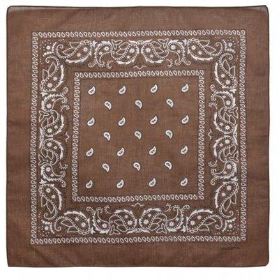 Bandana zakdoek paisley bruin
