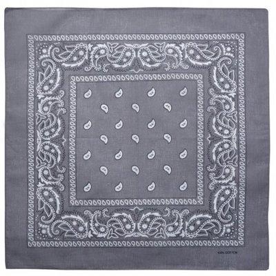 Bandana zakdoek paisley grijs