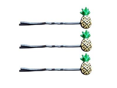 Schuifspeldjes ananas geel