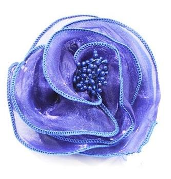 Haarbloem glans blauw