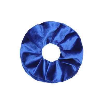 Scrunchie haarelastiek velvet blauw